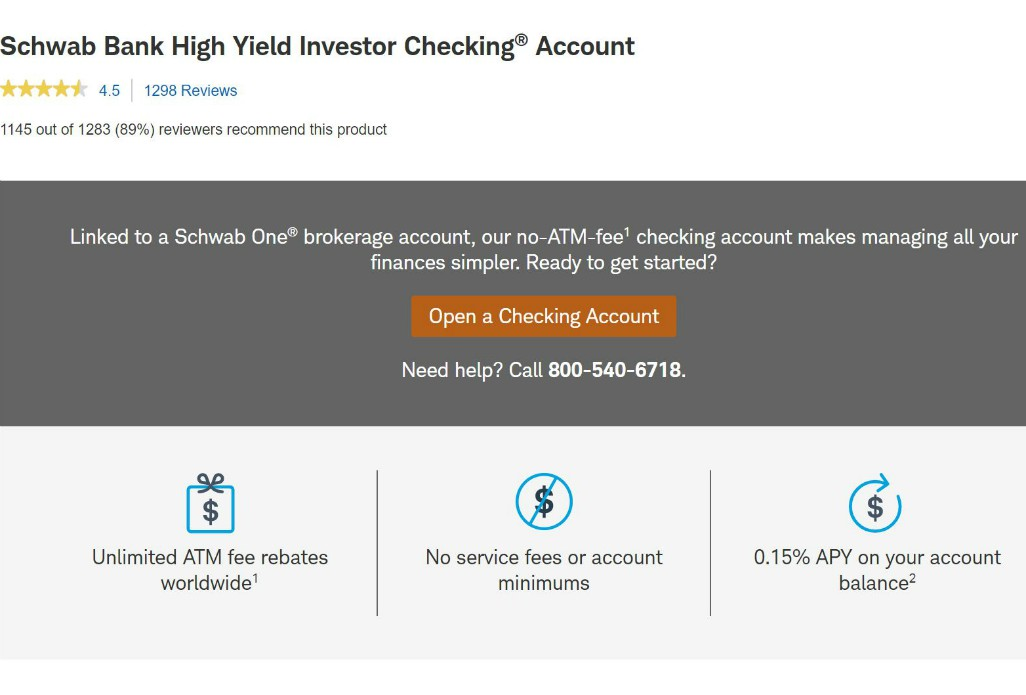 Charles Schwab Free Checking Account